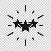 Excellence Icon In Transparent Style. Star Ribbon Vector Illustration On Isolated Background. Award  poster
