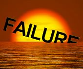 Failure Word Sinking As Symbol for Rejection And Malfunction