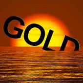 Gold Wort Untergang Ergebnis Depression Rezession und wirtschaftlichen down