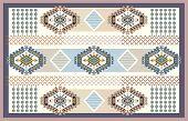 Colorful Ornamental Vector Design For Rug, Carpet, Tapis. Persian, Turkey Rug, Textile. Geometric Fl poster