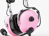 Pilot Pink Headphones. Headphones For Woman Pilots. Aviation Headphones For Pilots. poster