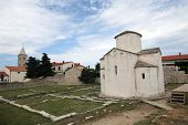 The smallest cathedral in the world, church of the Holy cross in Nin, Croatia, built in the 9th cent