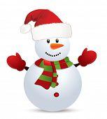 Snowman. Vector