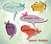 Speach bubbles. Vector