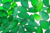 Green Glass Pieces