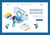 Isometric Hr Manager, Business Recruiting Manager Reviews The Resume Options On The Site. Template L poster