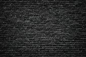 Black Brick Wall Background.  Brick Wall Texture Gloomy poster