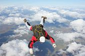 Closeup of skydiver