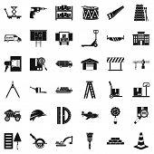 Forwarding Icons Set. Simple Set Of 36 Forwarding Icons For Web Isolated On White Background poster