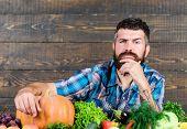 Seasonal Vitamin Food. Useful Fruit And Vegetable. Organic And Natural Food. Happy Halloween. Man Wi poster