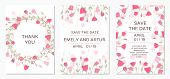 Wedding Invitation With Rose Eustoma. Romantic Tender Floral Design For Wedding Invitation, Save The poster