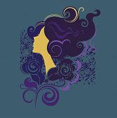 silhouette of a girl in profile3