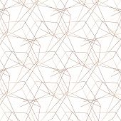 Vector Seamless Pattern. Geometric Background. Abstract Geometric Pattern. Golden Texture.seamless G poster