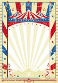 image of school carnival  - old tricolor poster big top - JPG