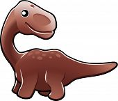 Cute Diplodocus Dinosaur Illustration