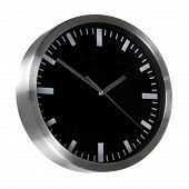 Black Classic Office Clocks Isolated On White