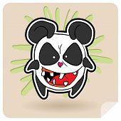 Panda enojado
