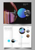 The Vector Layouts Of Creative Covers Design Templates For Trifold Brochure Or Flyer. Simple Design  poster