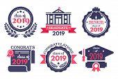 Graduate Student Badge. Congratulations Graduates, Graduation Day Badges And School Graduation Vecto poster