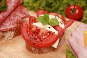 Fingerfood With Tomatoes And Mozzarella