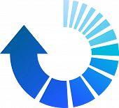 Blue Process Arrow