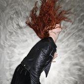 Pretty Redhead Woman.