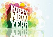 foto of new years celebration  - Happy New Year 3d message composition - JPG