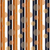 Retro Stripe Pattern With Navy Black And Orange Parallel Stripe. Vector Pattern Stripe Abstract Back poster