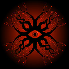 picture of crip  - ornate pattern featuring a creepy eyeball and blood - JPG
