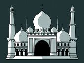 foto of masjid  - A vector image of a masjid/mosque building. Good for many applications, such as in website, greeting card, poster, etc.