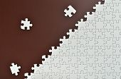 Plain White Jigsaw Puzzle,