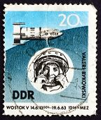 Postage Stamp Gdr 1963 Space Flight Of Valeri Bykovski