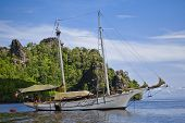 picture of langkawi  - A boat on the beautiful Island in Langkawi  - JPG
