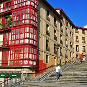 BILBAO, SPAIN - NOVEMBER 14: Mallona Stairs on November 14, 2012 in Bilbao, Spain. These stairs lead