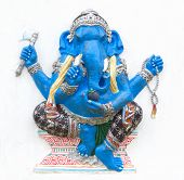 stock photo of ganapati  - Hindu ganesha God Named Maha Ganapati at temple in thailand