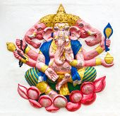 picture of ganapati  - Hindu ganesha God Named Maha Ganapati at temple in thailand - JPG