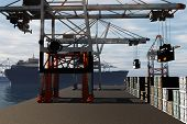 Industrial Port 3D render