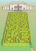 Постер, плакат: Пейзаж хеджирования лабиринт игра