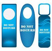 Blue Door Knob Or Hanger Sign - Do Not Disturb