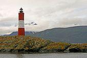 Lighthouse in the beagle chanel. Ushuaia landscape