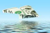 Money Plane Under Water