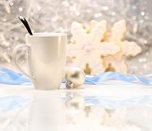 Hot Winter Drink With Sugar Cookies
