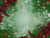Christmas Hintergrund Holly Beeren