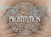 Prostitution Cloud Concept