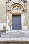Church entrance door