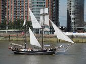 LONDON- AUG 29: The worlds finest tall ships, visit the river thames at royal greenwich, London for 5 days this august. LONDON, AUG 29, 2013.