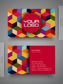 Colorful professional and designer business card set or visiting card set.