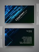 Elegant professional and designer business card set or visiting card set in blue and black color.