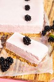 Frozen Blackberry Cheesecake