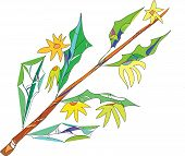 branch, tree, leaves,